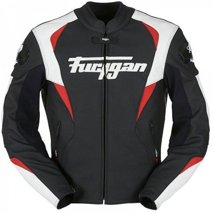 Blouson cuir Furygan snake noir/blanc/rouge chez Equip'Moto